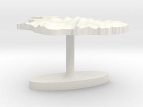 Iceland Terrain Cufflink - Flat in White Natural Versatile Plastic