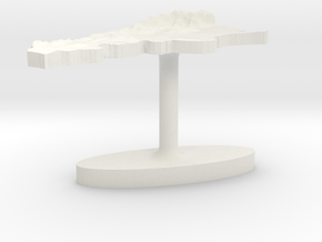 Argentina Terrain Cufflink - Flat in White Natural Versatile Plastic