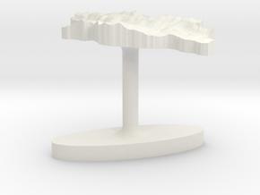 Georgia Terrain Cufflink - Flat in White Natural Versatile Plastic
