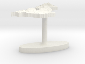 United Kingdom Terrain Cufflink - Flat in White Natural Versatile Plastic