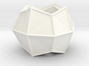 Indoor/Outdoor Flower Pot in White Processed Versatile Plastic