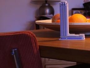 New Orleans  tower Rotterdam 15cm in White Natural Versatile Plastic