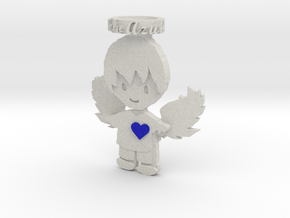 Pendant Full Color Blue Angel Boy in Full Color Sandstone