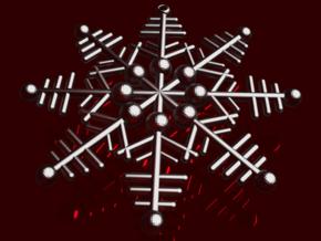 Snowflake Earrings 3 in Smooth Fine Detail Plastic
