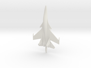 Su-34 Fullback Russian Jet 1/285 in White Natural Versatile Plastic