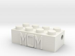 MOM in White Natural Versatile Plastic