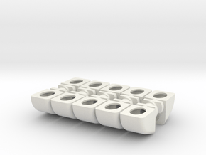 Steun Blokje Keuken Set in White Natural Versatile Plastic