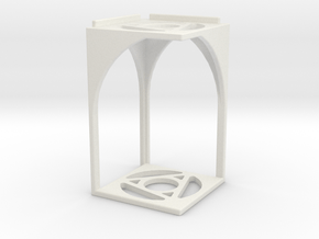 Stackerthedral in White Natural Versatile Plastic