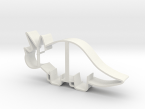 Triceratops Cookie Cutter (smaller Version) in White Natural Versatile Plastic