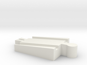 Male Tomy to Male Wooden Railway Adapter in White Natural Versatile Plastic