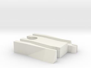 Female Wooden Railway to Trackmaster Adapter in White Natural Versatile Plastic