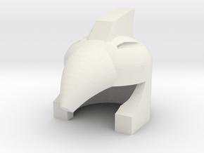 Robohelmet: Beakbrim in White Natural Versatile Plastic