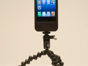 iPhone5 Camera Mount 5000mah Charger with USB Out in White Natural Versatile Plastic