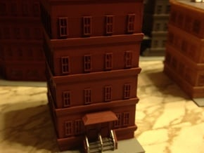 City Apartment Building 1  Z Scale in Smooth Fine Detail Plastic