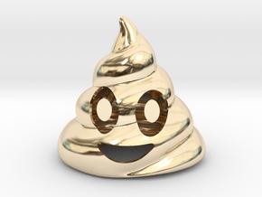 Poop Bottle Opener  in 14K Yellow Gold