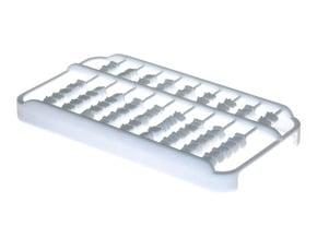 Abacus iPhone 4 / 4s Case in White Processed Versatile Plastic