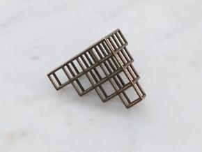 Tetris Pendant in Polished Bronze Steel