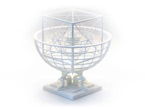 Kepler's Platonic Solids Model of the Solar System in White Natural Versatile Plastic