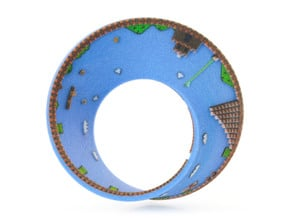 Super Mario Mobius Strip Small (2.8 inches) in Full Color Sandstone