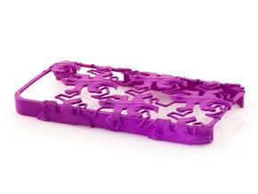 Escher Reptiles iPhone 5 / 5s Case in Purple Processed Versatile Plastic