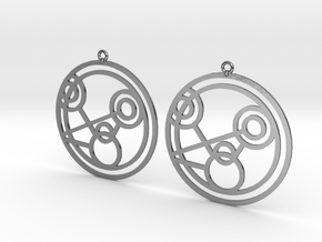 Monique - Earrings - Series 1 in Polished Silver