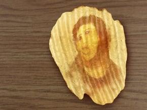 Potato Jesus, Miracle Potato Chip in Full Color Sandstone