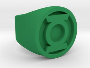 Green Lantern Ring (SIZE 9.5) in Green Processed Versatile Plastic