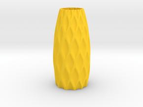 S-Vase in Yellow Processed Versatile Plastic