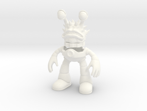 Monster Alien in a Robot Suit Toy Figurine in White Processed Versatile Plastic