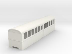 "009 bogie ""Flying Banana"" railcar centre car in White Natural Versatile Plastic"