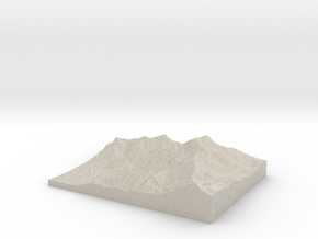 Model of Ross Pass in Natural Sandstone