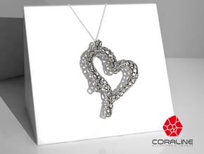 Coralheart in Polished Silver