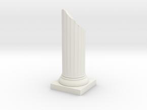 Pillar Broken Bottom Variation 01 Lrg in White Natural Versatile Plastic