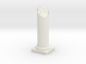 Pillar Broken Bottom Variation 02 Lrg in White Natural Versatile Plastic
