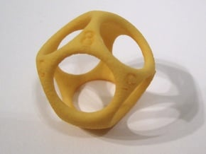 D8 Shell Dice - Gen 2 in Yellow Processed Versatile Plastic