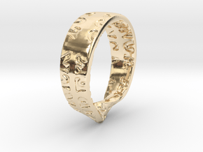 RingForMirek LargestOf7 in 14K Yellow Gold