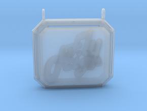 Retro Pendant in Smooth Fine Detail Plastic