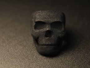 Skull Ring Size 7.25 in Black Natural Versatile Plastic