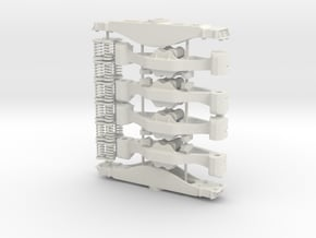 Standard AAR Bogie - sprung in White Natural Versatile Plastic