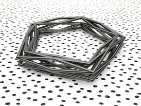 Interwined Bracelet in Black Natural Versatile Plastic