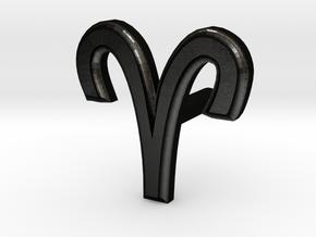 Aries Earring in Matte Black Steel