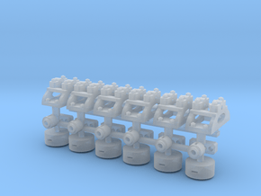 Decauville Point Lever Base x 6 in 1/32 Scale in Smooth Fine Detail Plastic