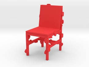 BLOSSOMING CHAIR - RJW ELSINGA 1:10 in Red Processed Versatile Plastic
