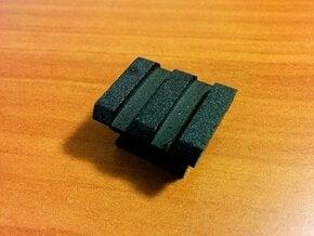 Flash Hot Shoe Picatinny Rail (2 Slots) in Black Natural Versatile Plastic