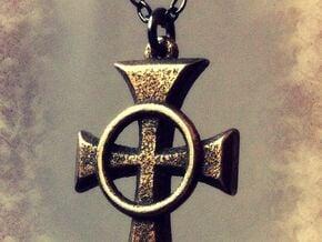 "Boondock Saints - Celtic Cross pendant - 1"" in Polished Bronzed Silver Steel"