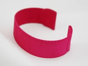 Loved Beyond Measure - Cuff Bracelet in Pink Processed Versatile Plastic