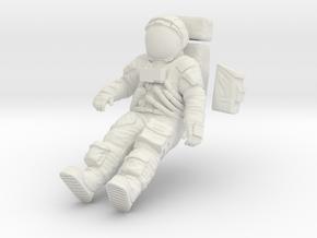 1:12 Apollo Astronaut /LRV(Lunar Roving Vehicle) in White Natural Versatile Plastic