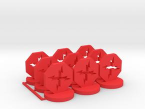 Ion Token in Red Processed Versatile Plastic
