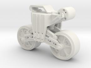 1-56 Bogie M4 Hvy Duty V3 in White Natural Versatile Plastic