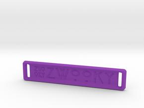 ZWOOKY Style 18 Sample - bag tag in Purple Processed Versatile Plastic